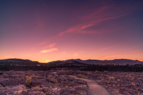 Craters of the Moon Sunset - 0002