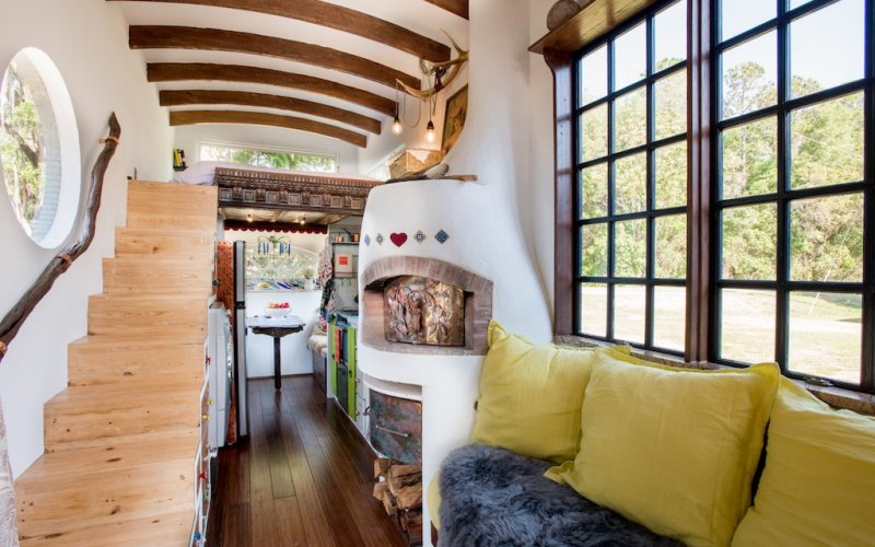 The GYpsy Mermaid Tiny House on Wheels with Pizza Oven Inside 003