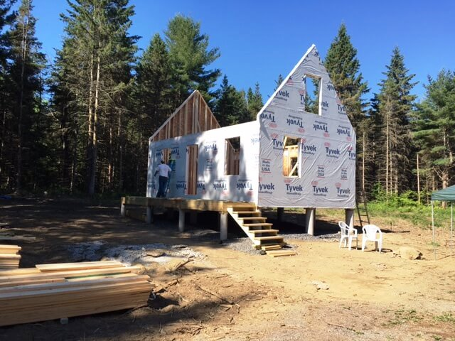 Tiny house walls are up.