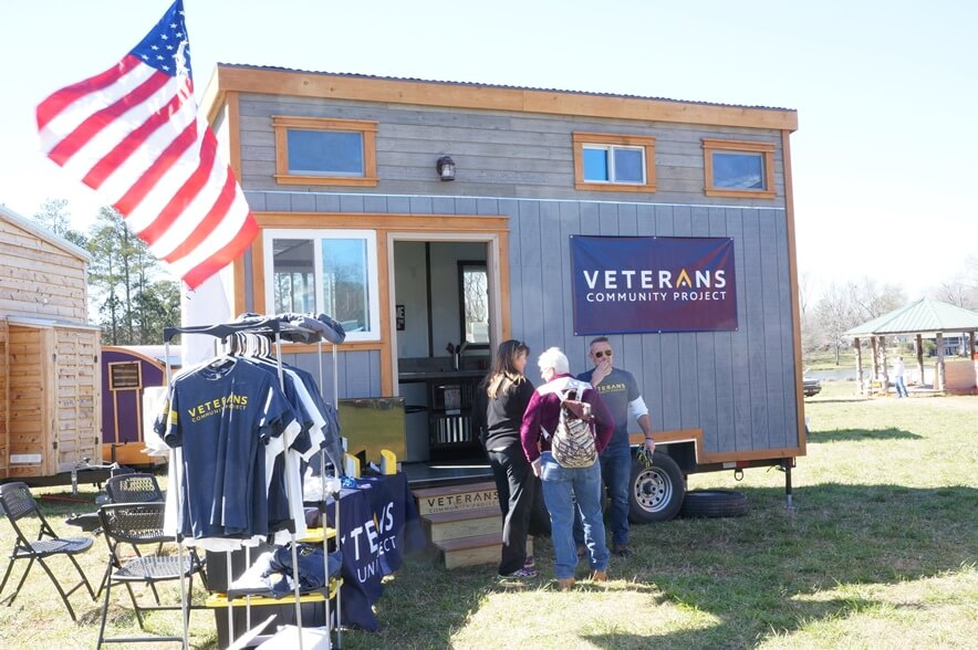 Tiny House built by Zack Giffin and the Veterans Community Project