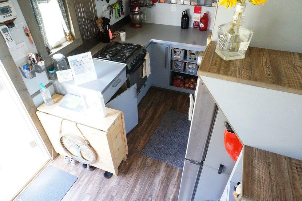 Method to nomadness tiny house kitchen