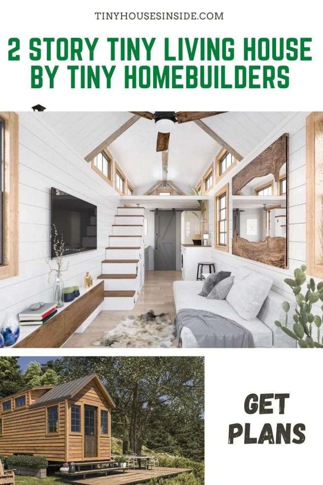 2 Story Tiny Living house By Tiny Homebuilders