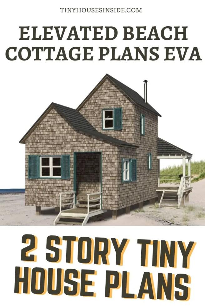 Elevated Beach Cottage Plans Eva 2 story plans