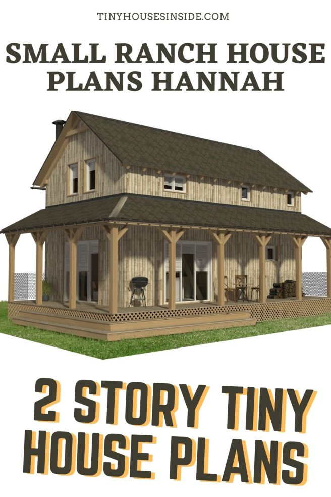 Small Ranch House Plans Hannah 2 story