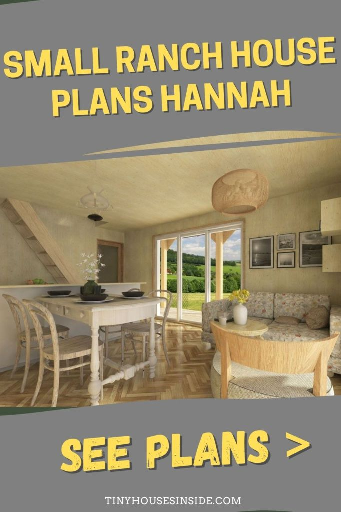 Small Ranch House Plans Hannah 3 bedroom