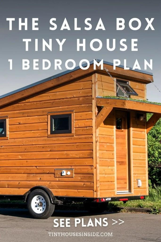 The Salsa Box Tiny House 1 Bedroom Plan