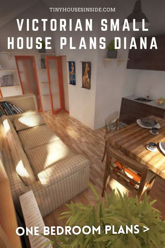 Victorian Small House Plans Diana 1 bedroom plans
