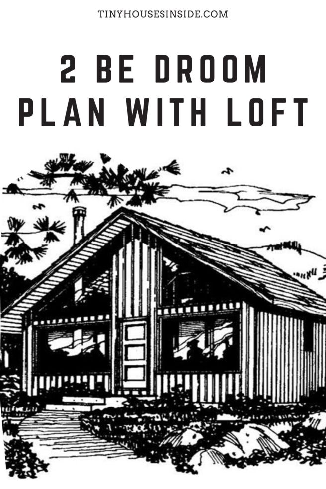 2 Be droom plan with Loft