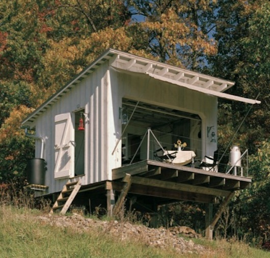 Tiny House with Garage Door - 140 square feet