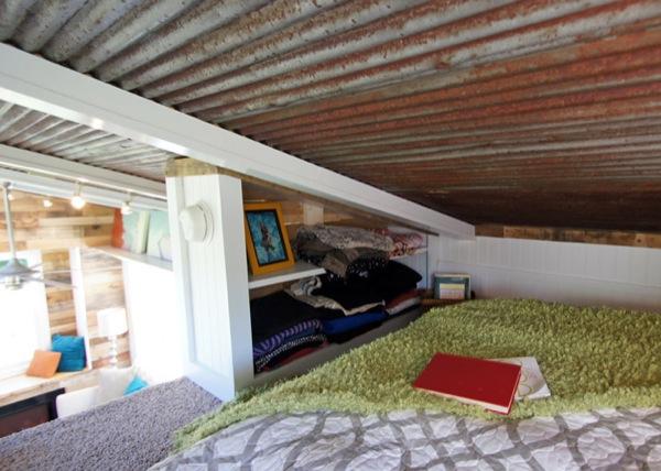 storage in sleeping loft