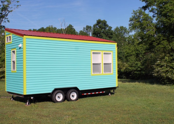 back side of tiny home