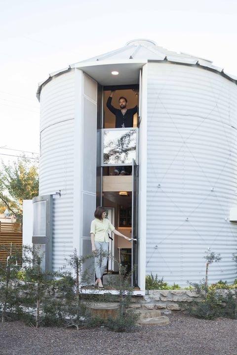 190 Sq. Ft. Modern Grain Silo Tiny House