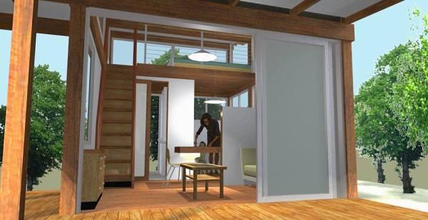 200 sq ft Pavilion Tiny House 002