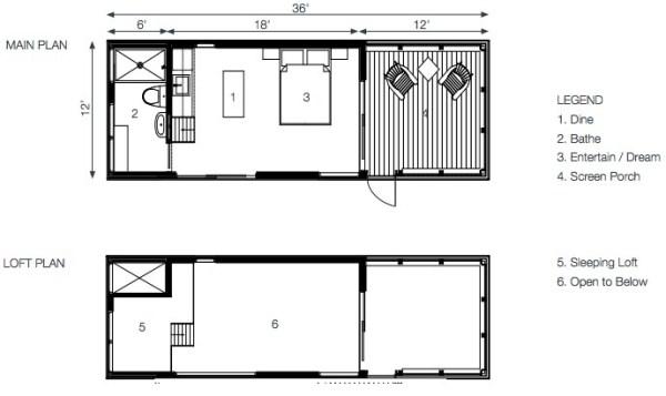 24 Solo Bunkie Floor Plan