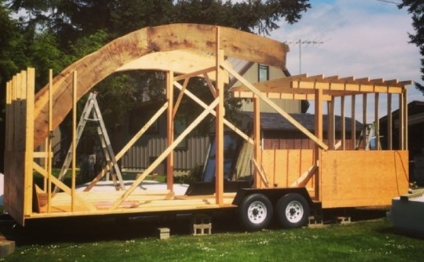 260 Sq Ft Curved Roof Tiny Home by Structural Spaces 0011