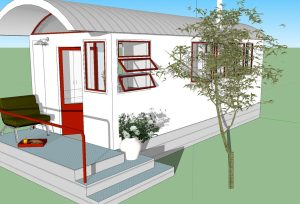 260 Sq. Ft. No Loft Tiny House Design