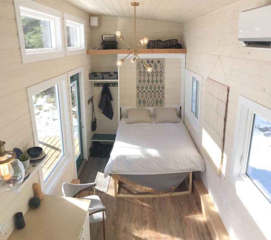 28 Foot Scandinavian Tiny House W Murphy Bed For Sale