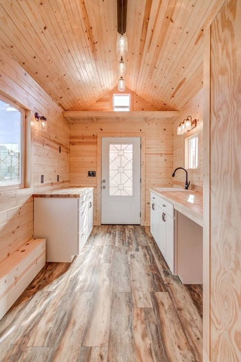 290sf Tiny House on Wheels with Downstairs Bedroom For Sale in Durham, NC 0016