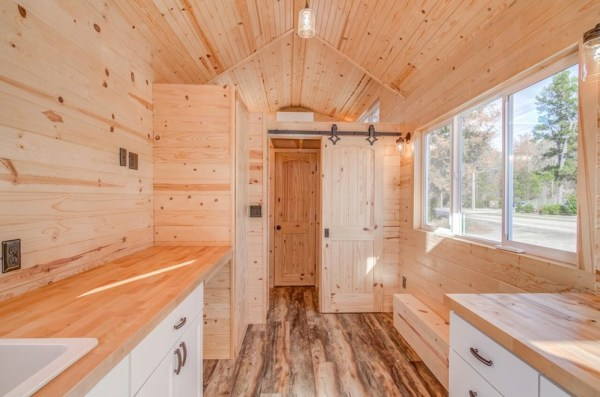 290sf Tiny House on Wheels with Downstairs Bedroom For Sale in Durham, NC 007