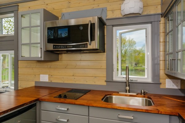 300 Sq Ft Custom Tiny Home on Wheels by Wishbone Tiny Homes 009