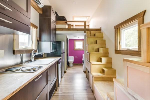 312 Sq. Ft. Log Cabin Tiny House on Wheels 003