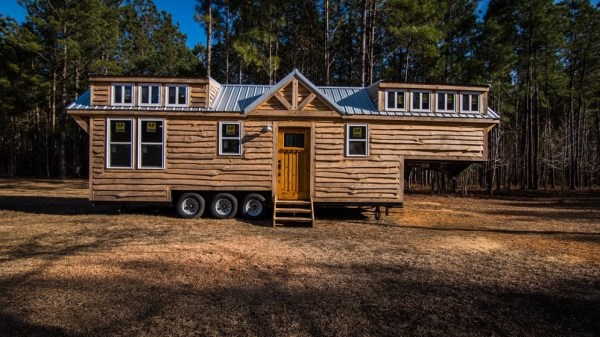 39ft rustic gooseneck tiny house on wheels. Black Bedroom Furniture Sets. Home Design Ideas