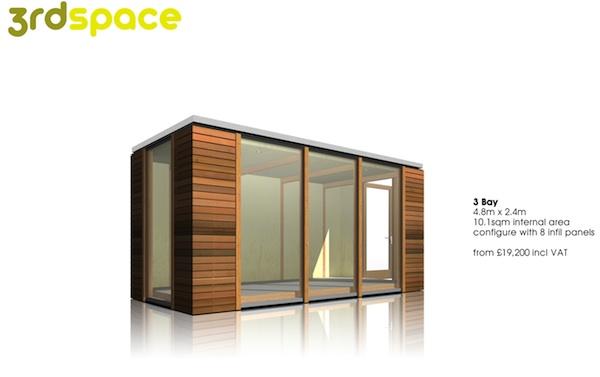 3rdSpace - Modular Backyard Office Sheds - 3 Bays