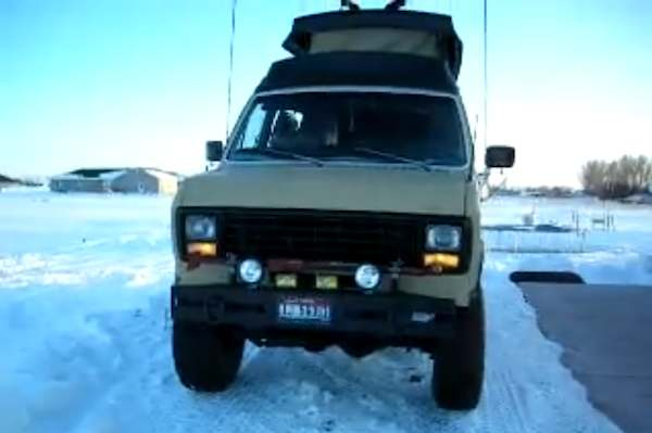 Rare 1979 Ford E250 Converted 4x4 Lifted Camper Van the Adventurer