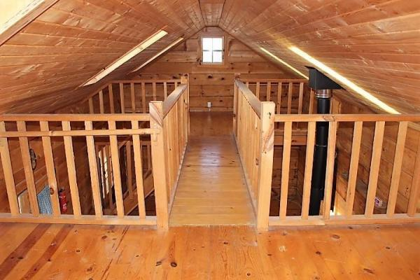 500 Sq Ft Tiny Log Cabin On 3 9 Acres In Viola Wi