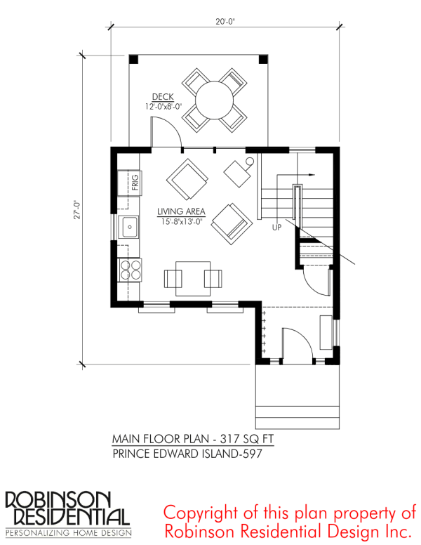 Tiny Home Designs: Prince Edward Island 597 Sq. Ft. Small Home