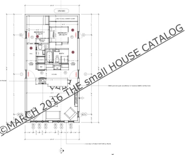 Free Small House Plans: 800 Sq. Ft. Fraxinus Home