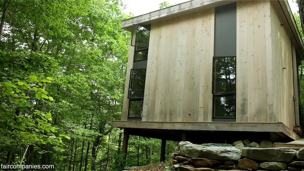 850 sq ft modern cabin in the forest for Sq 850