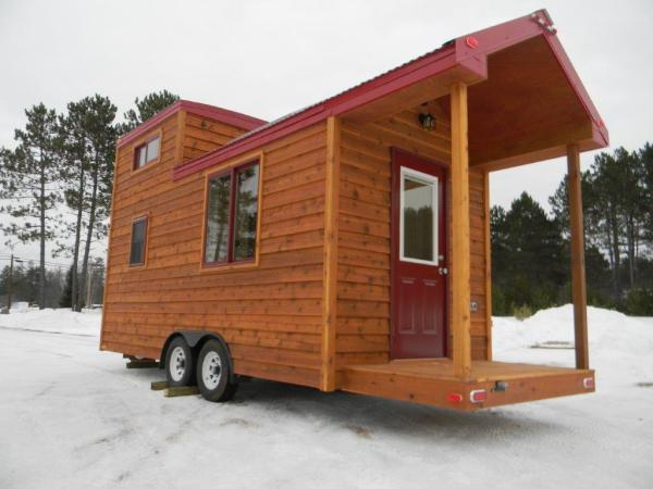 8x22 Tiny Cabin on Wheels 0023