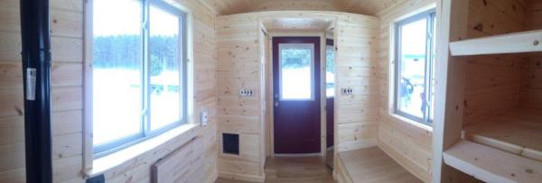 8x22 Tiny Cabin on Wheels 003