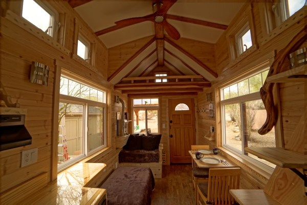 Aarons Craftsman Tiny Home on Wheels using Modified Dan Louche Plans 0016