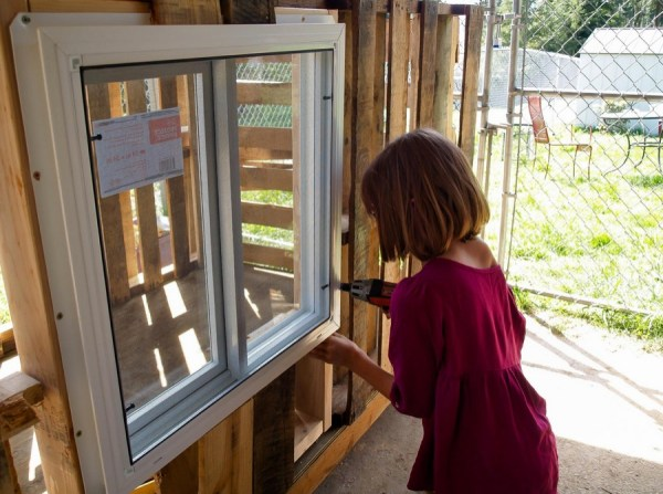 installing windows in micro house