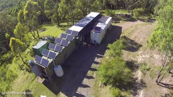 Aussie Couples Off-Grid Shipping Container Home 0015