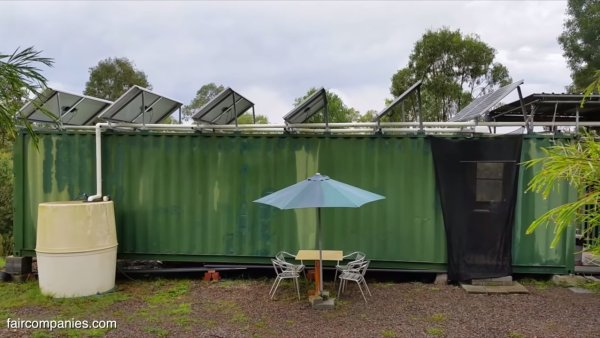 Aussie Couples Off-Grid Shipping Container Home 0018