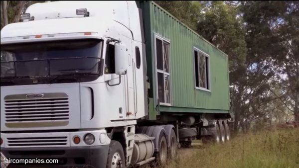 Aussie Couples Off-Grid Shipping Container Home 005