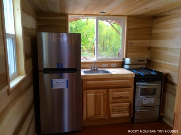 Bayfield Kitchen with Refrigerator, Stove, Sink and Large Window
