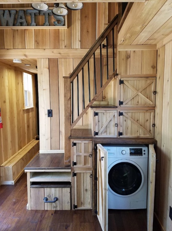 Beautiful 28ft Cedar Tiny House with Custom Deck by KJE Tiny Homes 004