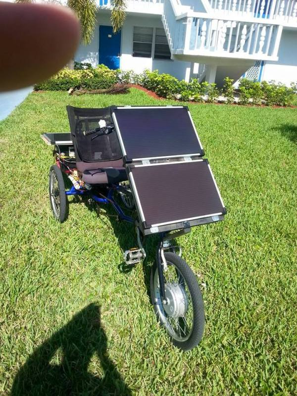 Bob Sheratons Solar Powered Trike 001