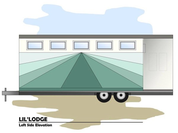Brother and Sisters Lil Lodge Tiny House on Wheels Project 0017