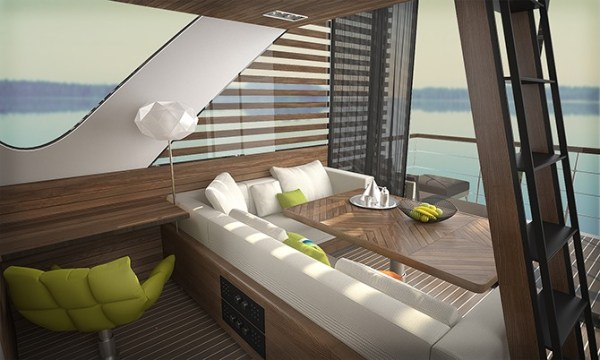Catamaran-interior