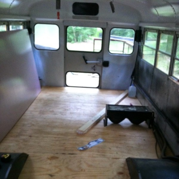 Chelie's Simple Rustic School Bus Conversion 0016