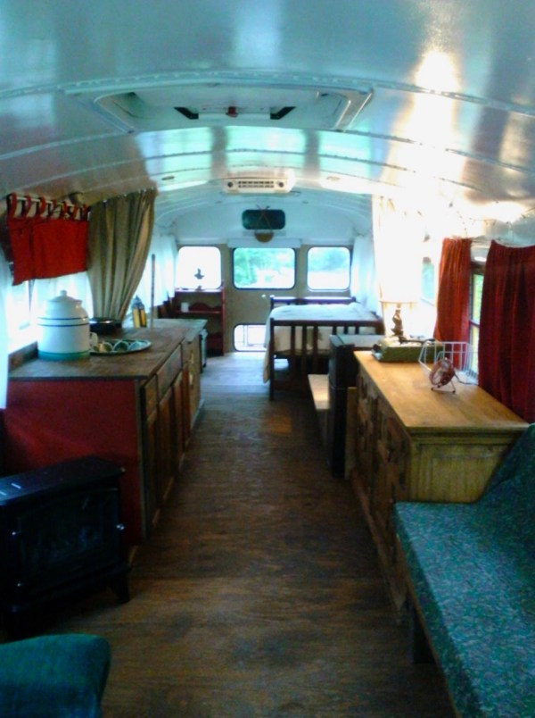Chelie's Simple Rustic School Bus Conversion 002