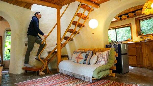 Incredible Cob House Tour 2 Story Cob Cottage Originally