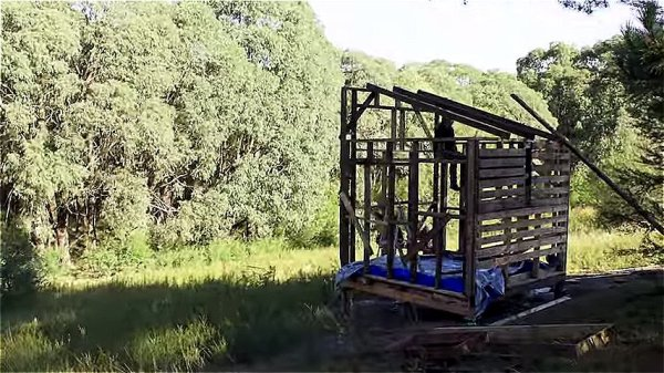 Couple Build 67 Sq Ft Tiny House for 420 using Reclaimed Materials via Happen Films 008