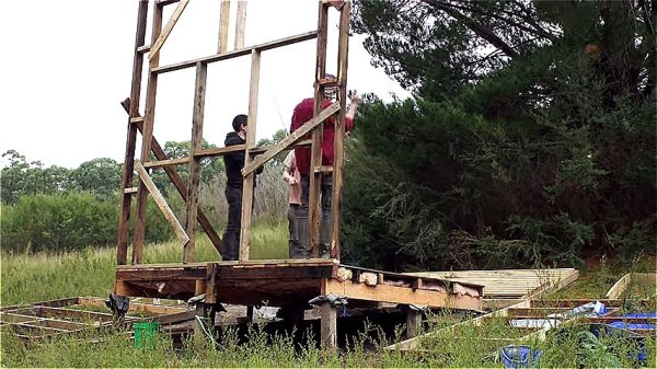 Couple Build 67 Sq Ft Tiny House for 420 using Reclaimed Materials via Happen Films 009