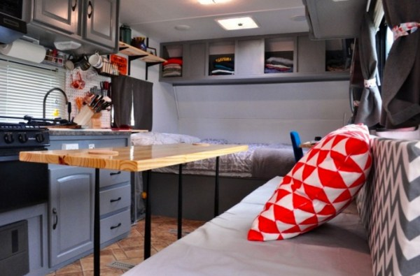 Couple Renovate Travel Trailer into Nomadic DIY Tiny Home 0010